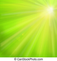 rays of the sun on a green background