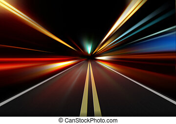 abstract night road