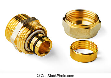 pipe fittings isolated on a white background