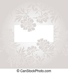 card with a gray flowers