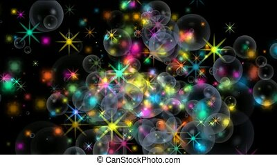 shine stars and soap bubble,fireworks,waterdrop,falling...