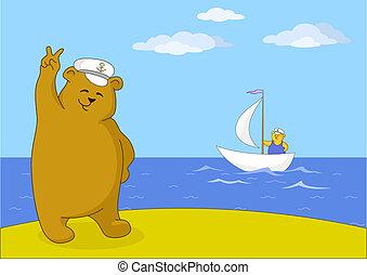 Teddy bear captain