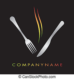 Logotype for restaurant, Menu