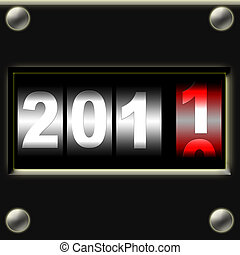 hot new year digital counter
