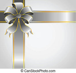 gift with a large  bow