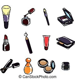 cartoon makeup icon