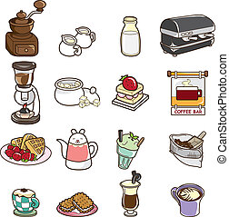 cartoon cafe icon