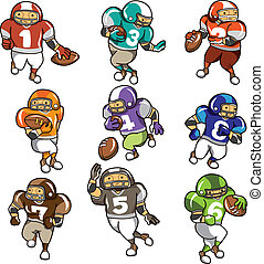 cartoon football player icon - cartoon football player icon...