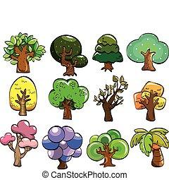 cartoon tree icon  - cartoon tree icon