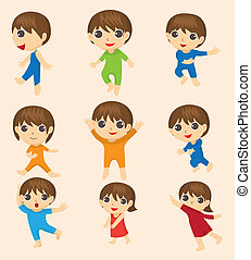 cartoon kid icon