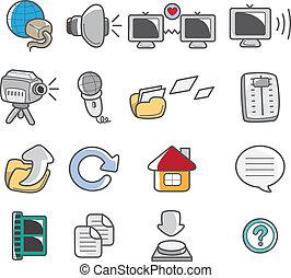 cartoon web icon  - cartoon web icon