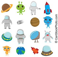 cartoon Outer space icon  - cartoon Outer space icon