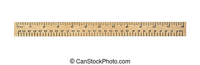 ruler - twelve inch measurement ruler isolated on white