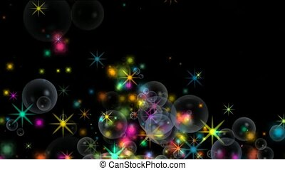 shine stars and soap bubble,waterdrop,fireworks,falling...