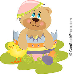 Cute Easter illustration
