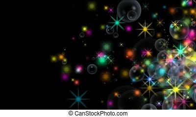 shine stars and soap bubble