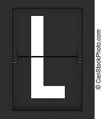 L Letter from mechanical timetable board