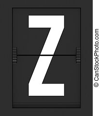 Z Letter from mechanical timetable board