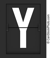 Y Letter from mechanical timetable board
