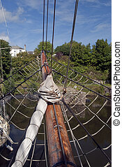 Tall Ships Bowsprit - The Bows,bowsprit and rigging of a...