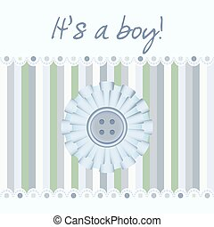 Baby card announcement