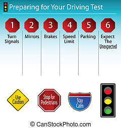 Preparing For Your Driving Test - An image of a driving test...