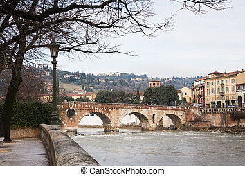 Verona historic center cityscape