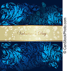 Vector blue ornamental background