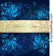 Vector blue ornamental background