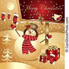Christmas illustration - Vector Christmas illustration with...
