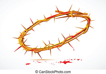 Crown of Thorns - illustration of Crown of thorns with...