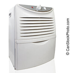 Dehumidifier - Portable electric dehumidifier on white