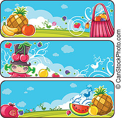 Fruity banners - Set of of beautifully designed banners....