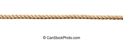 rope string - close up of a rope on white background with...