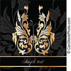 Abstract Gold Butterfly. Vector - Abstract gold butterfly on...