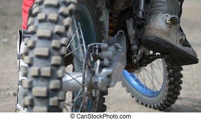 motocross excitement before start - motocross start pending....