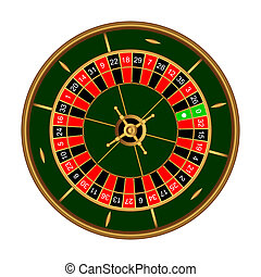 Roulette - Game roulette on a white background