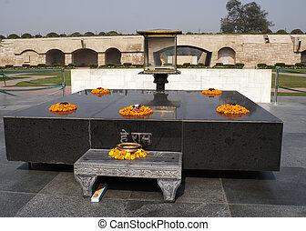 cremated, macchia, dove,  Gandhi, era