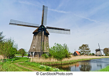 Wind Mill - A water wind mill in the county