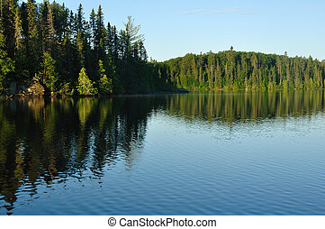 Reflections on a Wilderness Lake - Reflections on the...