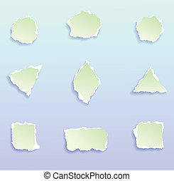 Design Elements - Set of torn paper design elements, vector...