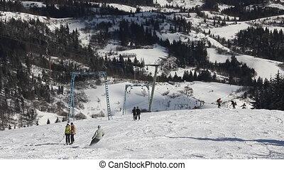 Ski resort in the Carpathians