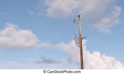 Power Pole cloudscape time lapse - Time flies as the clock...