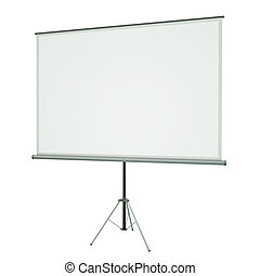 Projection Screen - Blank portable conference projection...