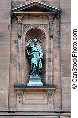 Santo, Paul, estatua, exterior, histórico, Santo,...