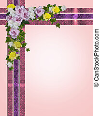Spring flowers Easter border - Image and illustration...