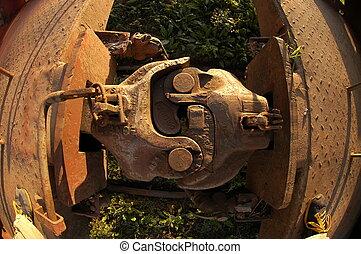 Stock Car Bolt - Rusted Stock car bolt