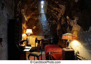 Historic Prison Cell of Al Capone in Philadelpha's Eastern State Prison