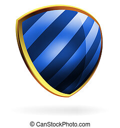 Vector blue shield template item. EPS 8