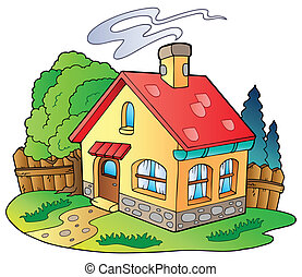 Small family house - vector illustration